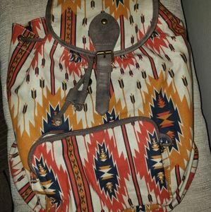 Drawstring medium backpack